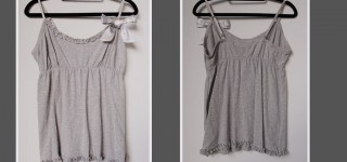 T3020 Lady's camisole in 95cotton 5spandex jersey. Price: US$***/PC FOB  SHANGH.